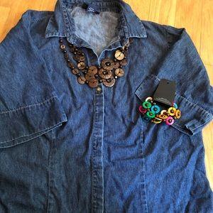 Lane Bryant denim shirt size 14/16